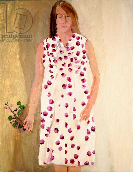 Girl in Spot Dress, 2003 (oil on canvas)