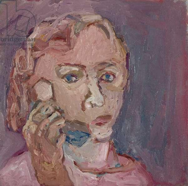 Girl on Phone, 1991 (oil on canvas)