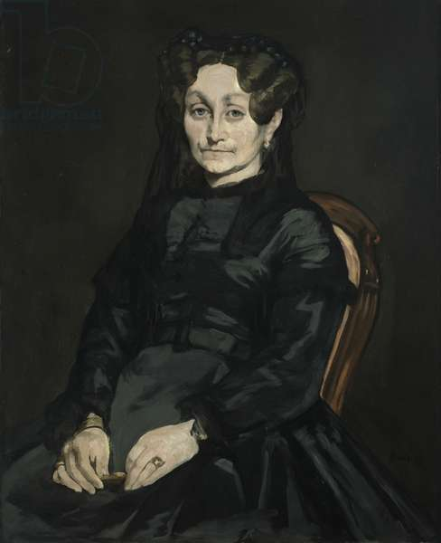 Madame Auguste Manet, 1869-70 (oil on canvas)