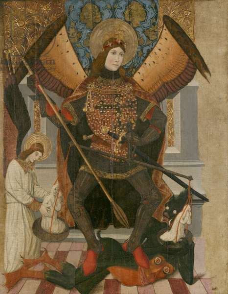St. Michael, after 1461 (gold leaf & tempera on panel)