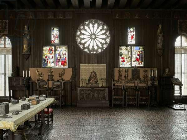Gothic Room, Isabella Stewart Gardner Museum, Boston (photo)