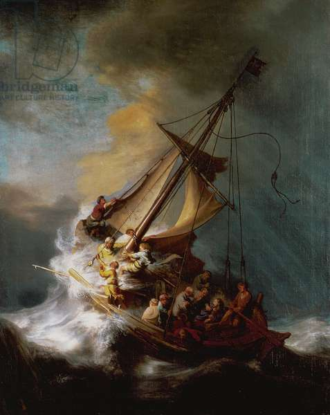 The Storm on the Sea of Galilee, 1633 (oil on canvas)