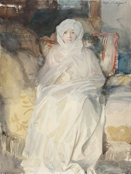 Mrs Gardner (1840-1924) in White, September 1922 (w/c on paper)