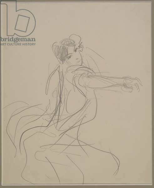 Sketch of a dancer, 1879-82 (graphite on paper)