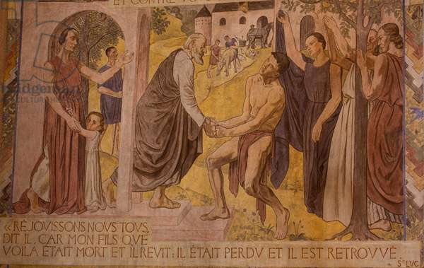 The Prodigal Son. Fresco in the Cathedral of Nanterre, 1924-1937
