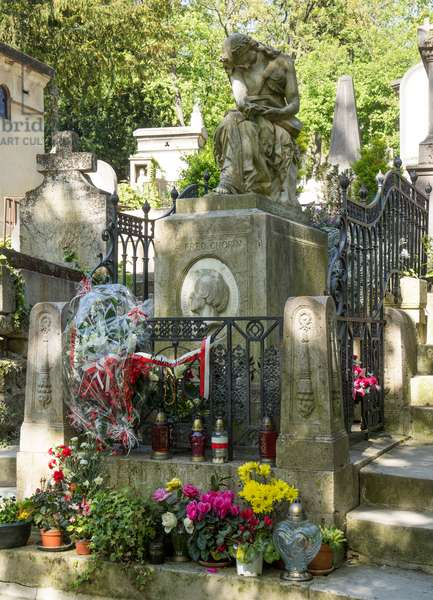 Burial of Frederic Chopin. Pere Lachaise Cemetery, Paris, 2016 (photograph)