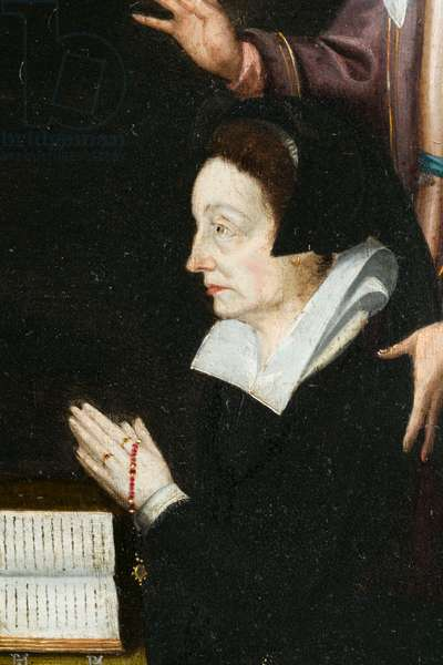 Anne Aubery, detail. Triptych of Aubery, 1603 (painting on wood)