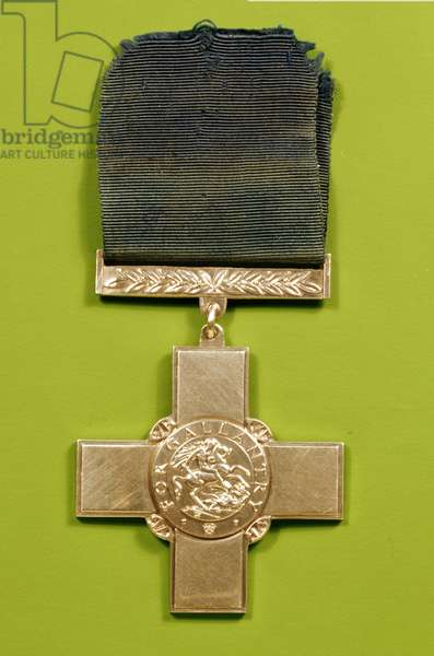 The George Cross, awarded for gallantry, 1940