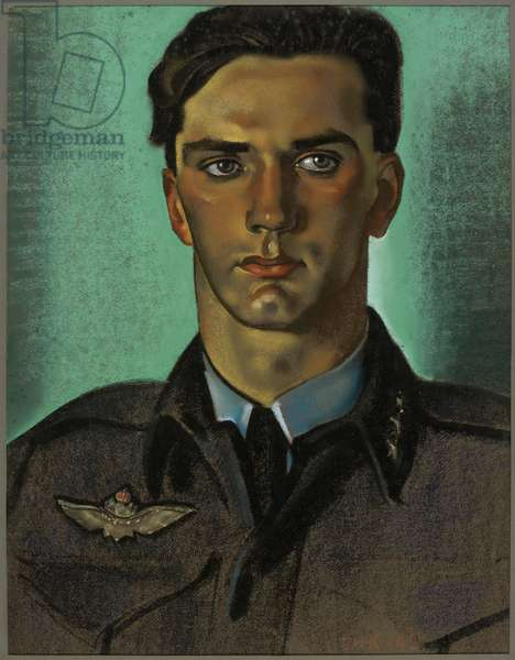 Captain W Mohr: a Squadron Commander of the Royal Norwegian Air Force serving with the RAF, 1942 (pastel)