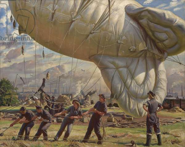 A Balloon Site, Coventry, 1943 (oil on canvas)