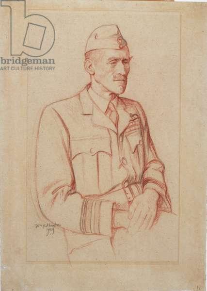 Air Vice-Marshal L.A. Pattinson, CB, DSO, MC, DFC, 1939 (sanguine crayon)