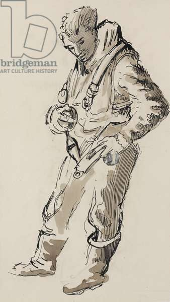 Fastening Harness, 1944 (ink, wash on paper )