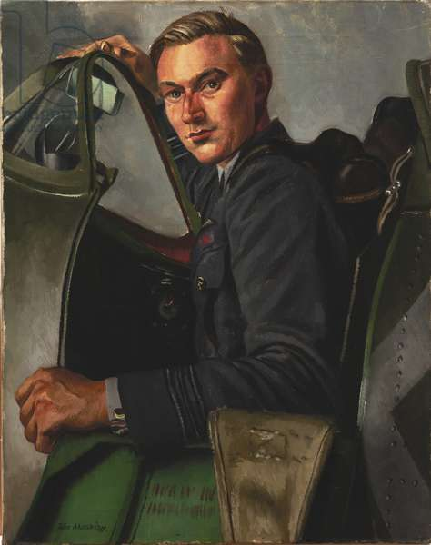 Squadron Leader J A Leathart, DSO, No 54 Squadron, 1940 (oil on canvas)
