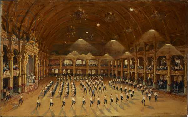 Physical Training at a Royal Air Force Training Centre, 1941 (oil on canvas)