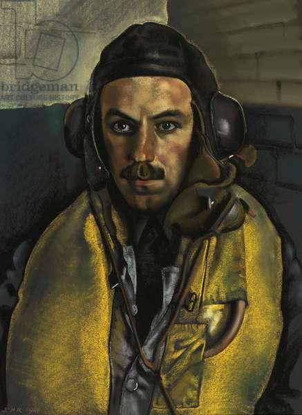 Flying Officer G.S. Bliss, 1941 (pastel on paper)