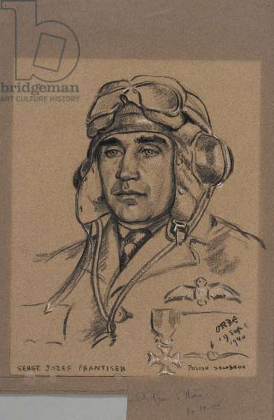 Josef František: a Czech Sergeant-Pilot who was decorated for gallantry while flying with the Royal Air Force, 1940 (chalk)