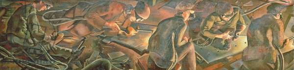 Shipbuilding on the Clyde: Burners, 1940 (oil on canvas) (detail of 279298)