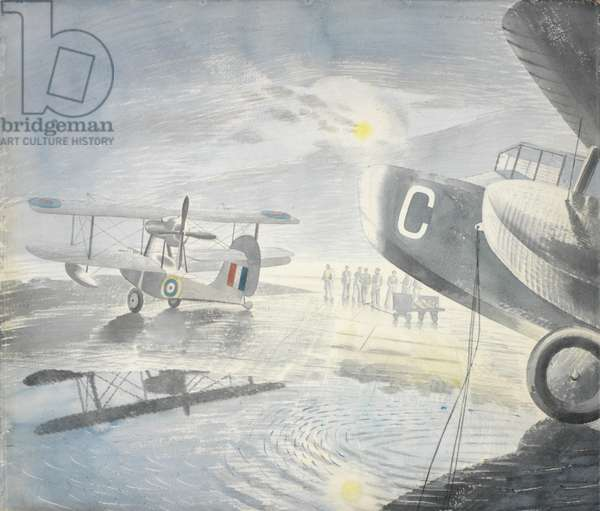 Morning on the Tarmac, 1941 (w/c on paper)