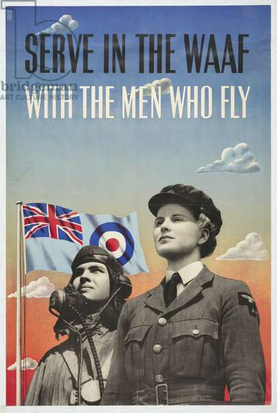 Serve in the WAAF with the Men Who Fly, 1941 (colour litho)