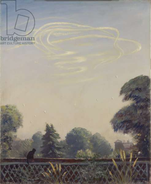 An Aerial Battle, 1940 (oil on canvas)