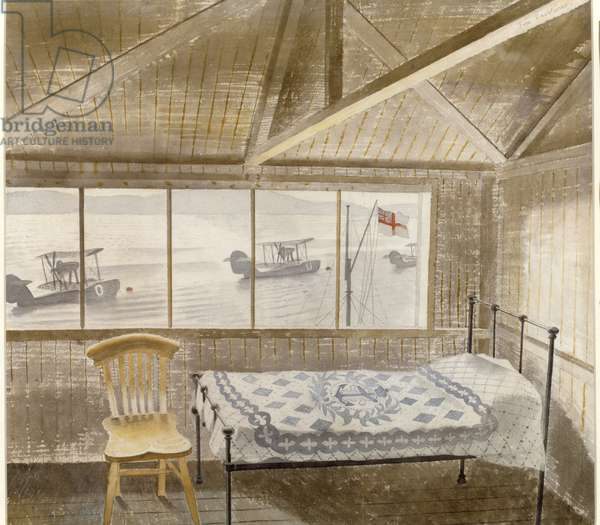 RNAS Sick Bay, Dundee, 1941 (w/c on paper)