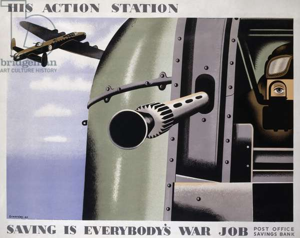 His Action Station - Saving is Everybody's War Job, 1943 (photolithograph)