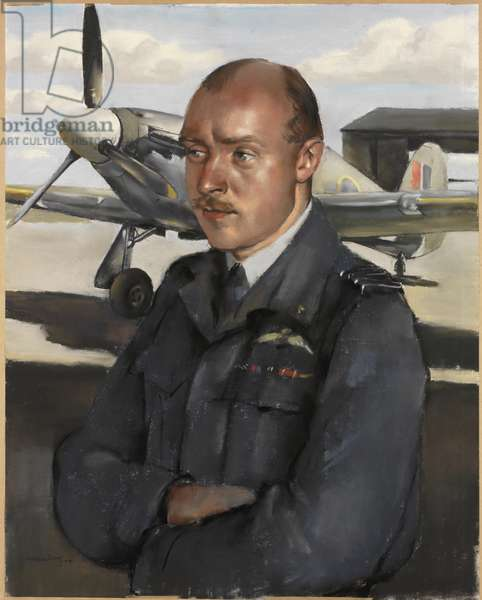 Group Captain A G Miller DFC, Order of Lenin, 1944 (pastel)