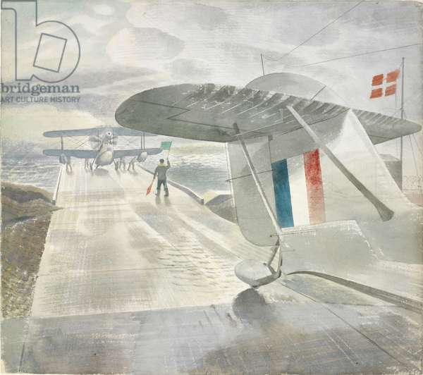 Walrus Aircraft on the Slipway, 1941 (w/c on paper)
