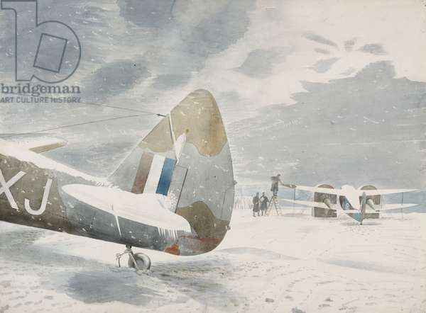 De-icing Aircraft, 1942 (w/c on paper)
