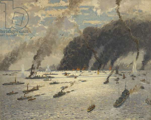 The Little Ships at Dunkirk: June 1940 (oil on canvas)