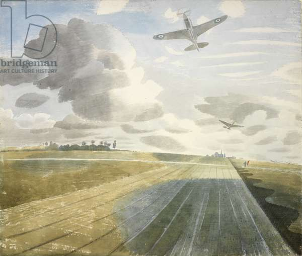 Runway Perspective, 1942 (w/c on paper)