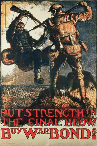 (PST/5819) World War I Poster, designed for use in the USA as a war savings poster, c.1914 (colour litho)