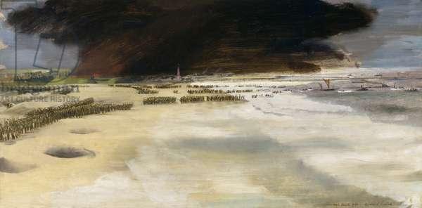 Dunkirk Beaches, 1940 (oil on panel on cardboard)
