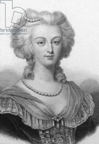 Portrait of Marie Antoinette (1755-1793), Archduchess of Austria and Queen of France. Engraving of the 19th century. ¿