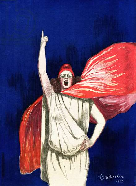 """Poster for """""""" The Daily"""""""" by Leonetto Cappiello (1875-1942) in 1923 Private collection"""