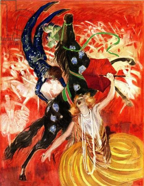 The circus - composition by Leonetto Cappiello (1875-1942) 1923