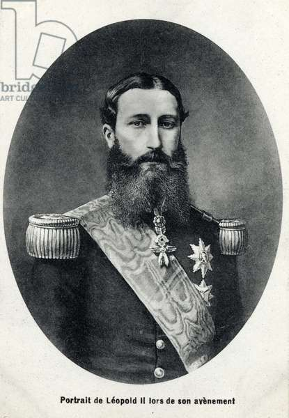 Portrait Leopold II (1835-1909), Belgian king in his future.