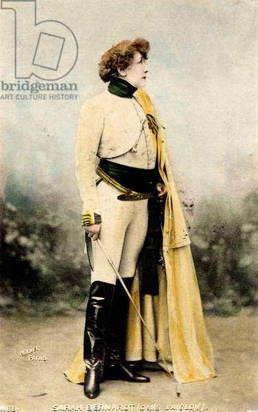 "Portrait of Henriette Rosine Bernard dit Sarah Bernhardt (1844-1923) in Edmond Rostand's play """""" L'Aiglon""""""."