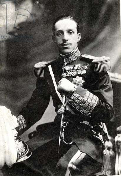 Portrait of King Alfonso XIII of Spain, (1886-1941).