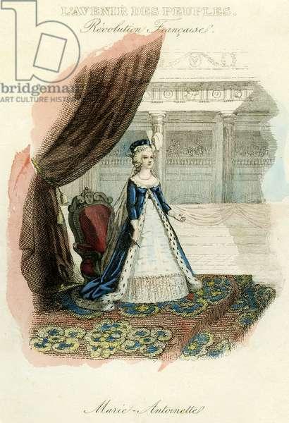 Portrait of Marie Antoinette, Queen of France - engraving