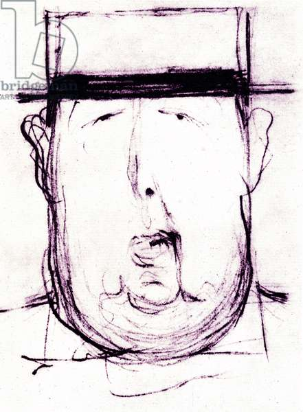 Cartoon of the Irish writer Oscar Wilde (1854-1900) by Leonetto Cappiello (1875-1942) 1899