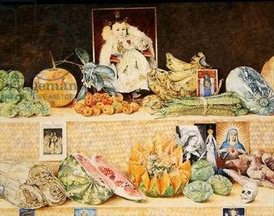 Fruit-stall, La Lagunilla, 1998 (oil on canvas) (detail of 240164)