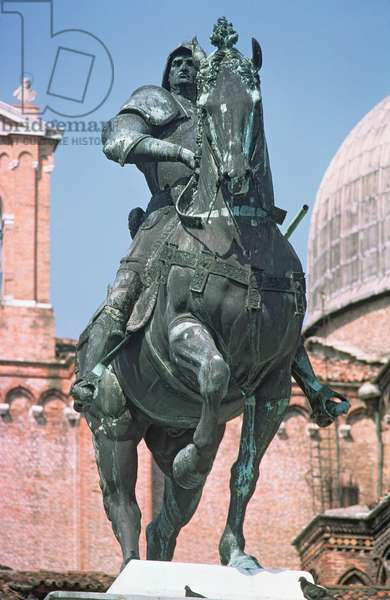 Equestrian statue of the condottiere Bartolomeo Colleoni, 1488 (bronze)