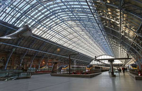 St. Pancras Station, general view of the train shed from the south-east (photo)