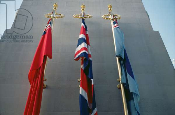 Union Jacks at the Cenotaph, London (photo)