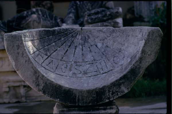 Sundial with a dedication to Caracalla and his mother, Roman, c.212-218 AD (photo) (see also 11584)