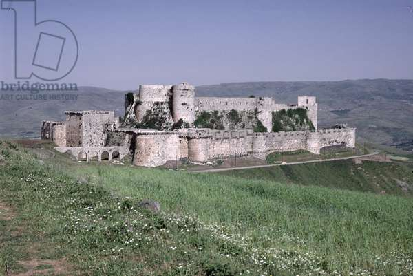 General view of the fortress of Krak des Chevaliers, c.1143 (photo)