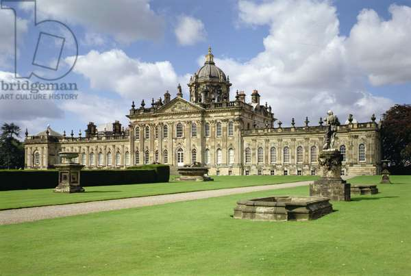 View of the Garden Front, Castle Howard, North Yorkshire (photo)