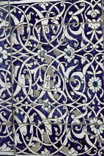 Detail of a floral decorative panel, Kuhreh Arg Citadel, c.1804 (glazed tiles)