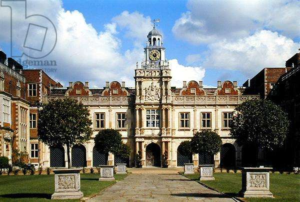 View of the south front, Hatfield House, Hertfordshire, built 1607-12 (photo)